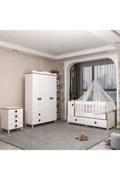 Garaj Home Pırlanta Yıldız 4 Kapaklı Bebek Odası Takımı - Sümela