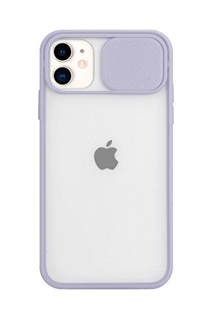 Fibaks Iphone 11 Uyumlu Slayt Sürgülü Kamera Korumalı Silikon Kılıf