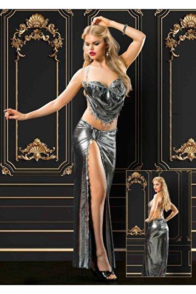Vip Madame Kadın Gümüş Fantezi Elbise