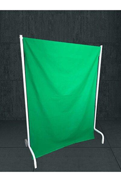 Demdas Greenbox Chromakey- Green Screen+stand Yeşil Fon Perde(1m X 1.34m)