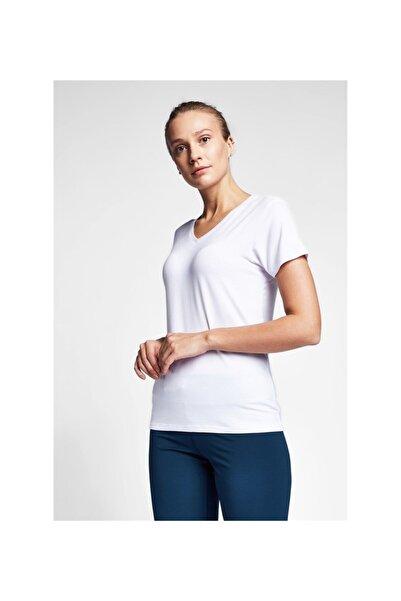 Lescon Kadın Beyaz Kısa Kol Tişört 20s-2202-20n
