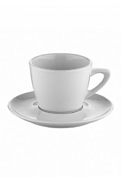 Kütahya Porselen Beyaz Çay Fincan Seti 180cc 6lı