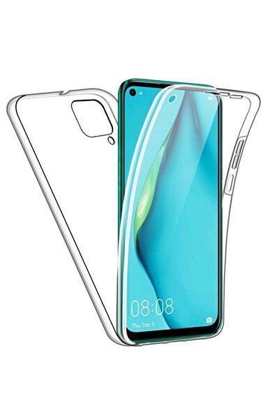 Huawei Teleplus P40 Lite Kılıf Ön Arka 360 Silikon Şeffaf