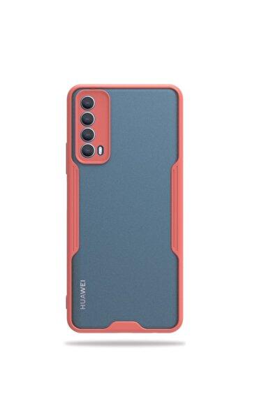 Huawei Teleplus P Smart 2021 Kılıf Kamera Korumalı Parfe Bumper Silikon Pembe