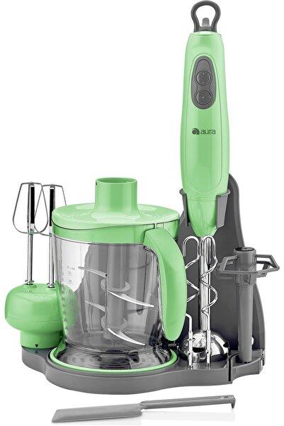 AURA Yeşil Standlı Blender Set Au2600