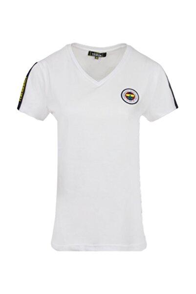 Fenerbahçe Kadın Beyaz Tribün Basıc T-shırt