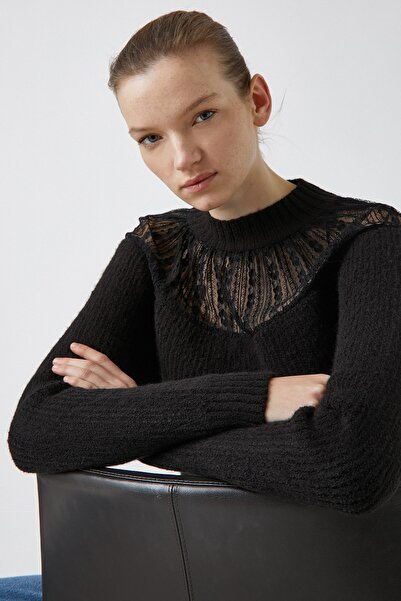 Koton Kadın Siyah Kazak 1KAK93433OT