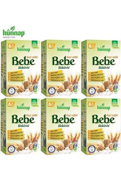 Hünnap Hunnap Bebe Bisküvisi Keçi Sütlü 400 Gr X 6 Adet