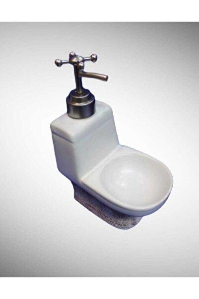 çerçi Porselen Sıvı Sabunluk Açık Kahverengi