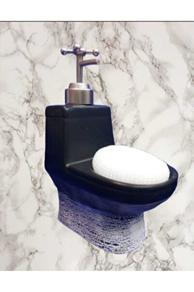 çerçi Porselen Sıvı Sabunluk Siyah