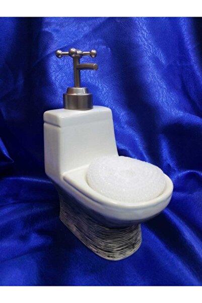 çerçi Porselen Sıvı Sabunluk Gri
