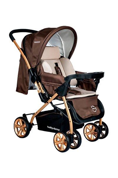 Baby Home BH-760 Gold Bilyeli Teker Mama Tablalı Çift Yönlü Bebek Arabası