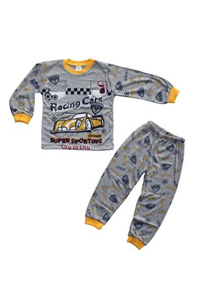 bebegen Erkek Çocuk  Sarı Gri Racing Cars Baskılı  Pijama Takımı