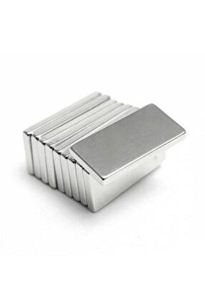 5 Adet 20x10x2 Süper Güçlü Neodyum Mıknatıs Magnet