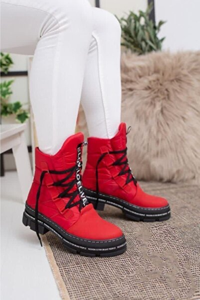 Odal Shoes Unisex Kırmızı Kar Botu