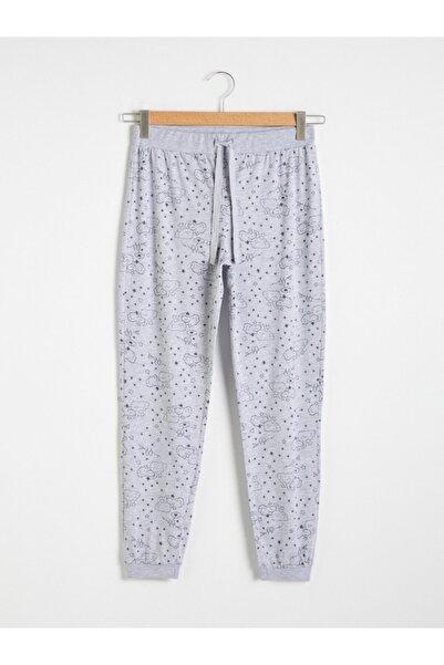 LC Waikiki Kadın Gri Melanj Pijama Altı