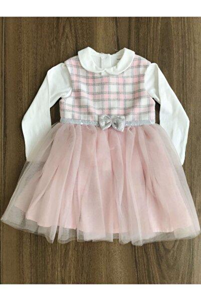 Mamino Kız Bebek Pembe Tütülü Elbise