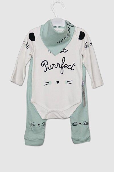 Miniworld Kız Bebek Mint Önlüklü 3 Parça Miss Perfect Takım