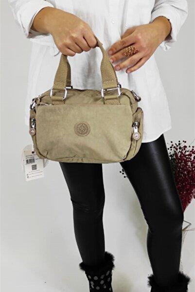 SMART BAGS Kadın Vizon Fermuarlı El Çantası