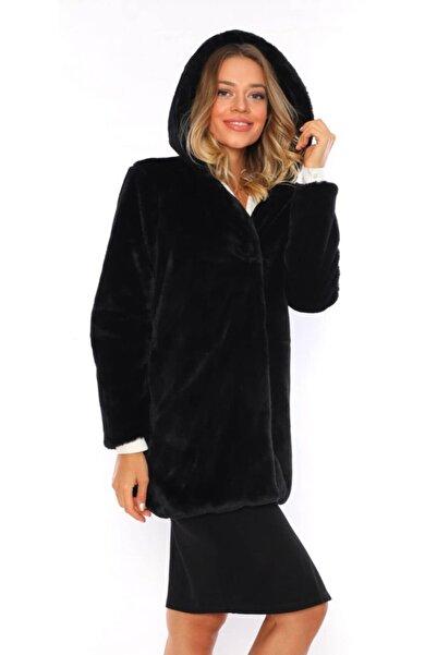navy ESL Kadın Siyah Kapüşonlu Ceket