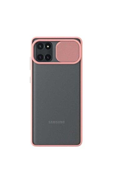 Samsung Teleplus Galaxy Note 10 Lite Kılıf Lensi Kamera Korumalı Silikon Pembe