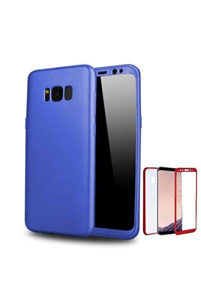 Samsung Teleplus Galaxy S8 Plus 360 Full Korumalı Kapak Mavi