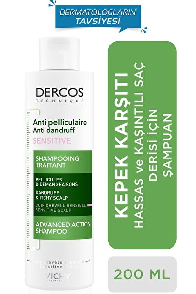 Vichy Dercos Anti-pel Shampoo Anti-ır 200 Ml