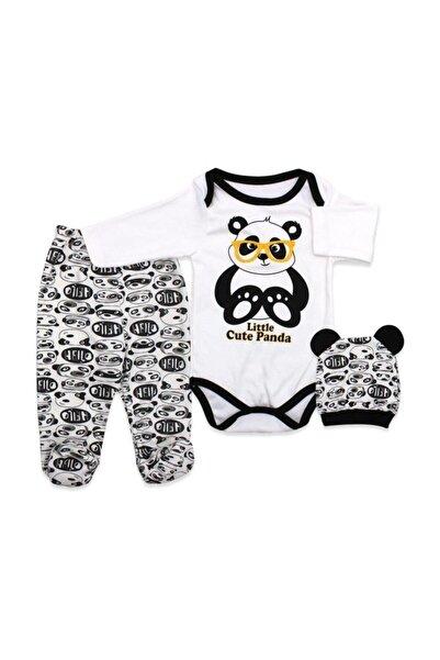 bebegen Gözlüklü Panda Bereli 3'lü Takım