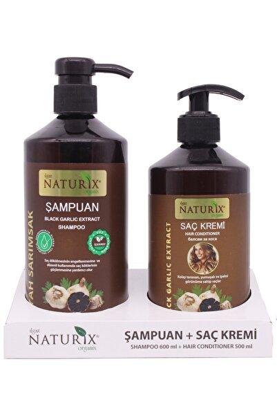 Naturix 2'li Natural 600 Ml Siyah Sarımsak Özlü Şampuan + 500 Ml Siyah Sarımsak Özlü Saç Kremi
