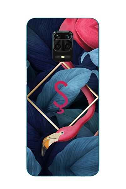 Dafhi Aksesuar Xiaomi Redmi Note 9s Uyumlu Flamingo Ş Harfi Telefon Kılıfı