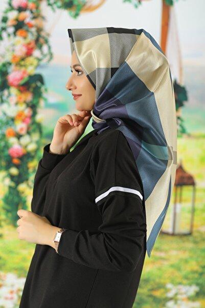Moda Ebrar Kadın Renkli Desenli Tafta Eşarp - Mdte-127