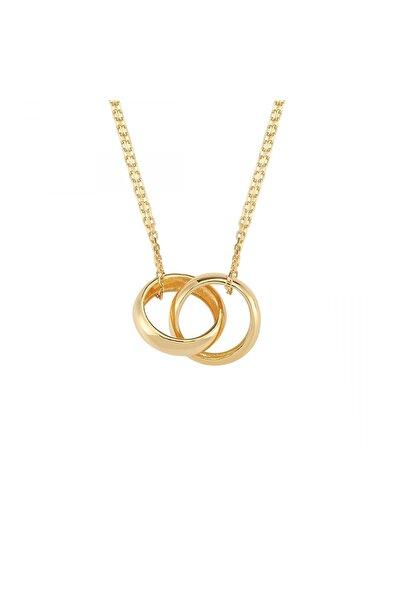 Altın Sepeti Kadın Gümüş Altın Rengi Alyanslar Kolye