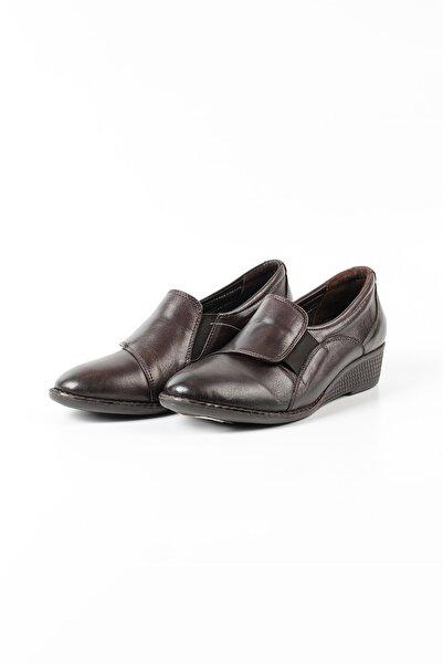 Venüs Kadın Kahverengi Hakiki Deri Dolgu Topuk Günlük Ayakkabı 1804325