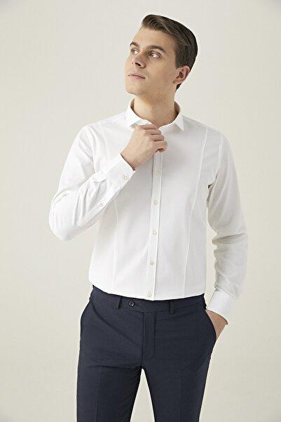 Twn Erkek Beyaz GÖMLEK (Slim Fit) 3EF02G836207M_801