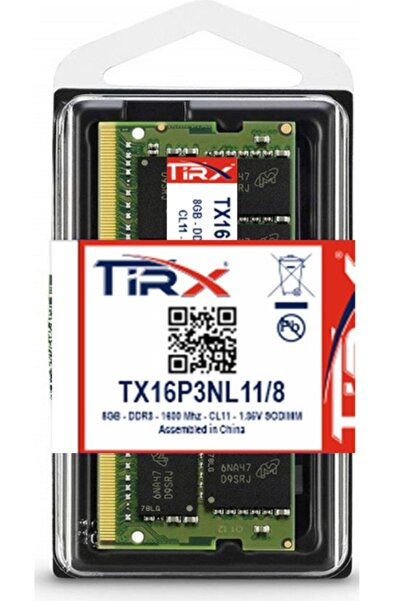Tirx Tx16p3nl11/8 8 Gb Ddr3l 1600 Mhz Intel & Amd Işlemcilerde Çalışır