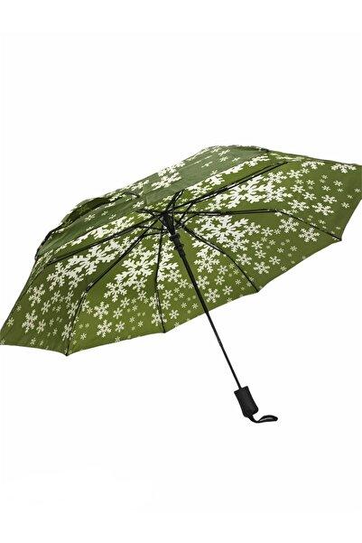 Almera Kadın Yeşil Yarı Otomatik Şemsiye