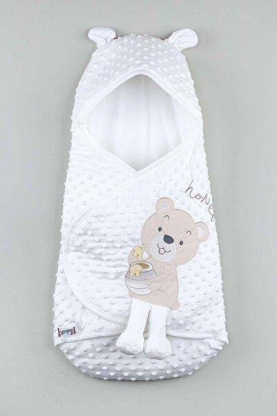 Modakids Beyaz Erkek Bebek Ayıcıklı Nohut Kundak
