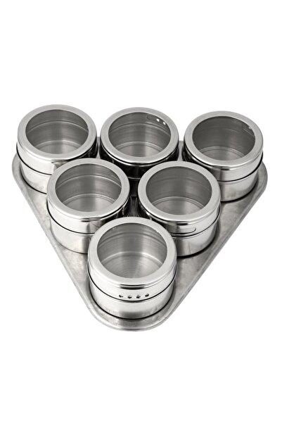 Buffer Buzdolabına Yapışabilen Mıknatıslı Baharatlık Seti 6 Adet