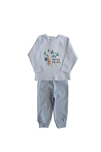 Baby Corner 3221 Geyik Desenli Mavi