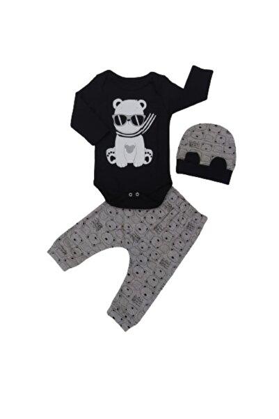 Miniworld Erkek Bebek Siyah Üçlü Takım