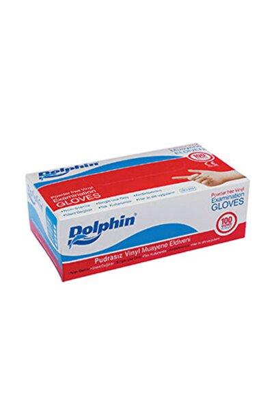 Dolphin Beyaz Vinil Eldiven Pudrasız (s) 100lü Paket
