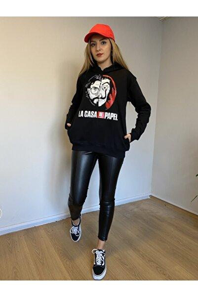 Moda Kızı Butik La Casa De Papel Unisex Siyah Sweatshirt