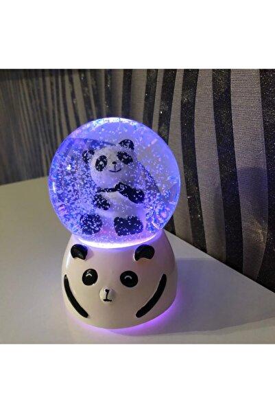 İHTİŞAMLI EVİM Orta Boy Müzikli Ve Işıklı Panda Temalı Kar Küresi