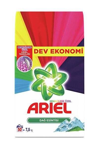 Ariel Toz Çamaşır Deterjanı Dağ Esintisi Renkliler İçin 7,5 kg