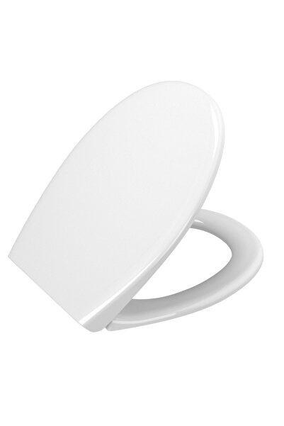 VitrA 84-003r009 Sesyok Klozet Kapağı, Oval Form, Yavaş Kapanır, Kolay Çıkabilir, Beyaz