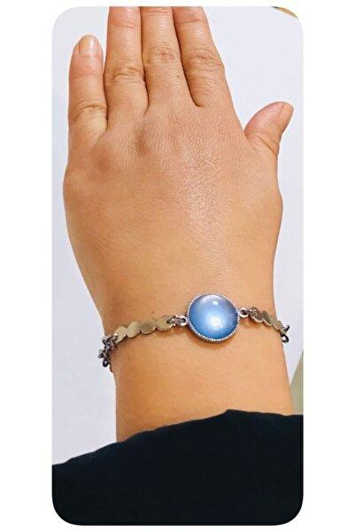 Mima Mavi Gümüş Renk Bileklik