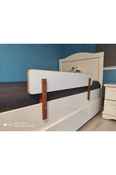 Derin Mobilya Çocuk Yatak Bariyeri - Beyaz Yatak Korkuluğu - Bebek Yatak Baza Bariyeri Yerli Üretim