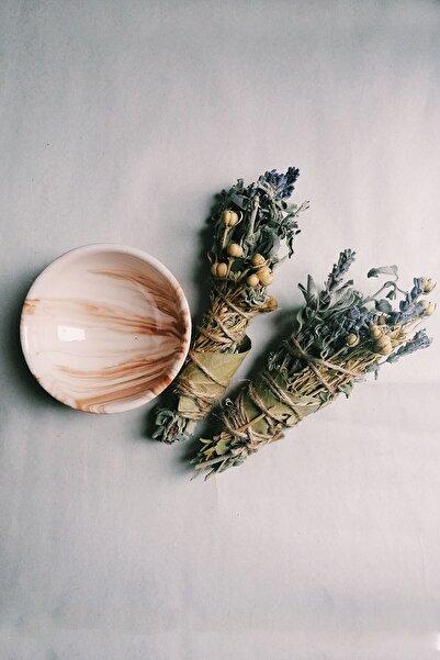 SANAT SEPET İŞLERİ Ada Çayı, Üzerlik, Lavanta Arınma Tütsüsü Seti - Kapla Birlikte