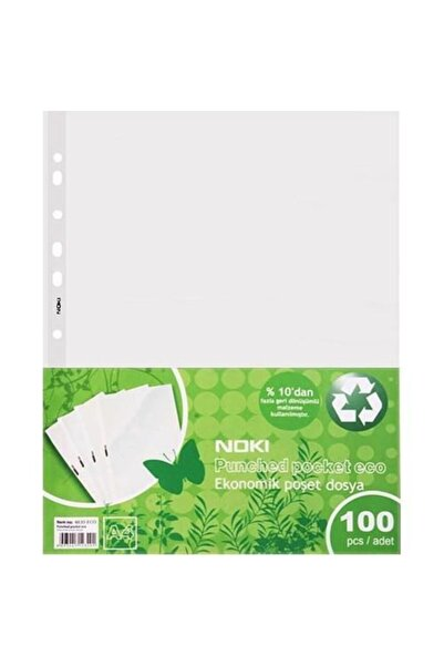 Noki Eco A4 Poşet Dosya 200'lü (2 Paket)