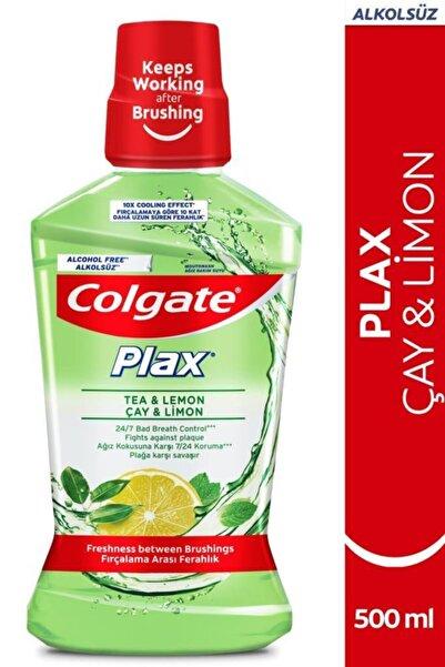 Colgate Plax Çay Ve Limon Plağa Karşı Alkolsüz Ağız Bakım Suyu 500 ml